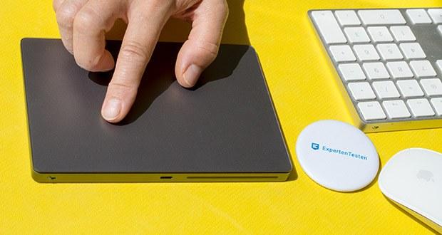 Apple Magic Trackpad 2 im Test - Oberfläche ist aus glattem, strapazierfähigem Glas