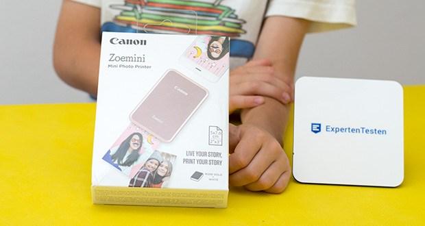 """Canon Zoemini Mini Fotodrucker im Test - mit dem Zoemini stellt Canon einen mobilen Drucker mit """"Zero Ink"""" (ZINK) Technologie vor"""