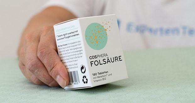 Cosphera Folsäure Tabletten im Test - zertifiziert nach GMP, ISO 9001 und HACCP