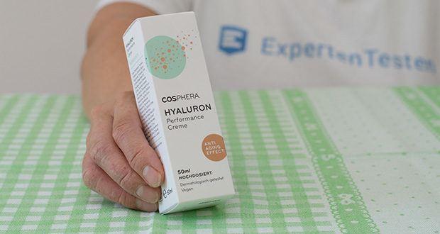 Cosphera Hyaluron Performance Creme im Test - zertifiziert nach GMP und ISO 9001