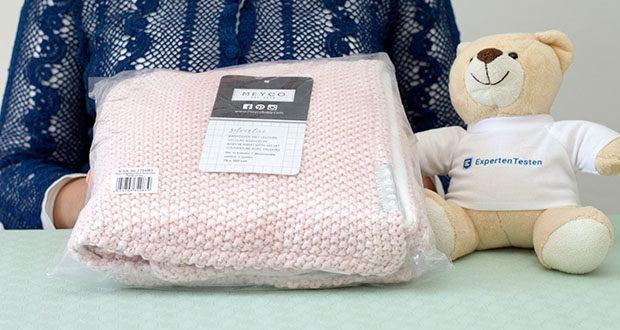 Meyco gestrickte Babydecke Winter im Test - Größe 75x100 cm