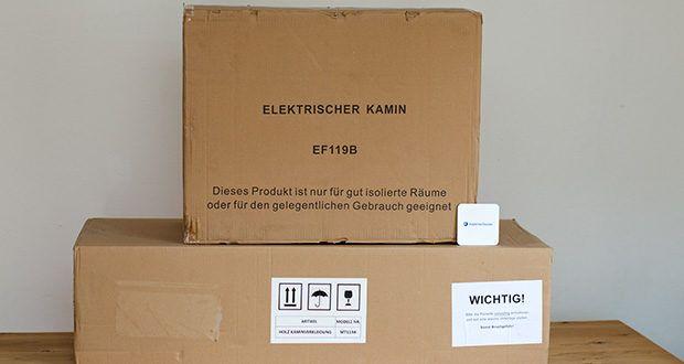 RICHEN Elektrischer Standkamin Baldur EF119B-MT119A im Test - Anzahl Packstücke: 2; CE Zertifizierung TÜV Rheinland