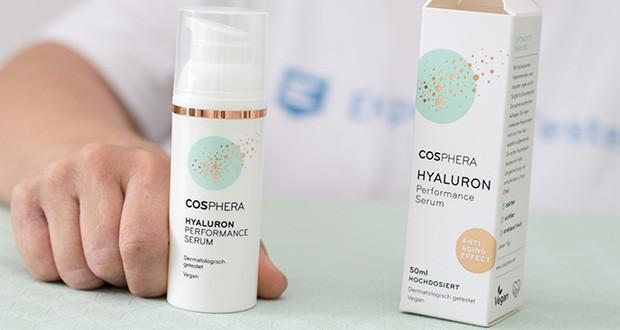 Cosphera Hyaluron Performance Serum im Test - aufgrund der guten Verträglichkeit eignet es sich ausgezeichnet als micro-needling Serum