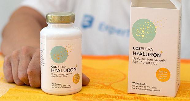 Cosphera Hyaluronsäure Kapseln im Test - höchste Dosierung am Markt (500mg Hyaluronsäure pro Kapsel)