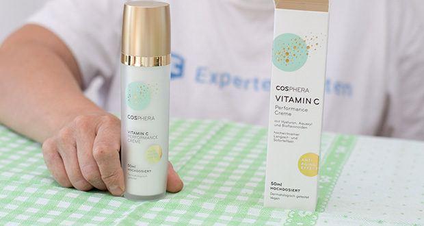 Cosphera Vitamin C Performance Creme im Test - verbessert feine Falten, wirkt gezielt gegen Hautunreinheiten, spendet Feuchtigkeit