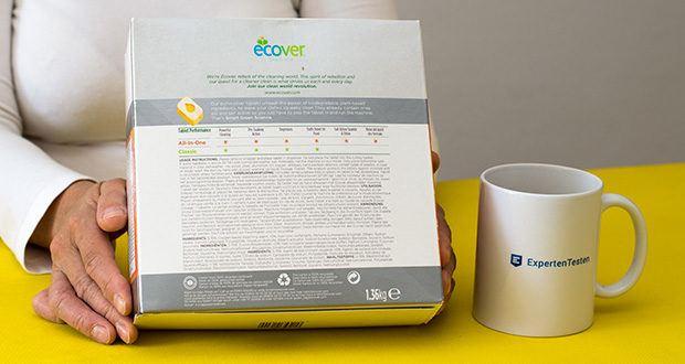 Ecover All-In-One Spülmaschinen-Tabs Zitrone & Mandarine im Test - alle Inhaltsstoffe sind biologisch abbaubar
