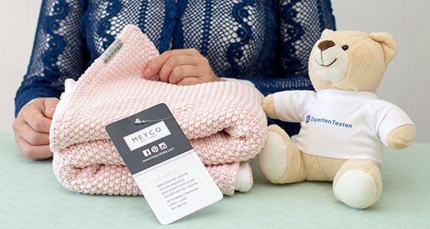 Meyco gestrickte Babydecke Winter im Test - kuschelige Decke