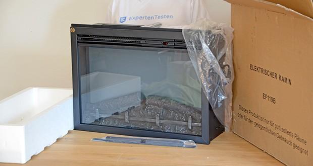 RICHEN Elektrischer Standkamin Baldur EF119B-MT119A im Test - Flammenbild/ Fenstergröße: 542 x 329 mm (B x H)