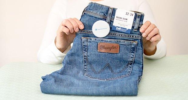 Wrangler Herren Texas Slim Jeans im Test - 85% Baumwolle, 14% Polyester, 1% Elasthan