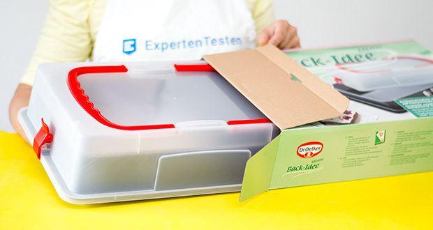 Dr. Oetker Rechteck-Springform mit Haube im Test - perfekt zum Backen, Schichten und Zubereiten von rechteckigen Kuchen und Torten