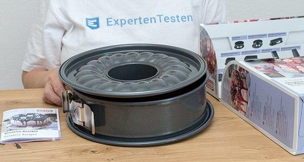 Kaiser La Forme Plus Springform im Test - gleichmäßige Bräunung durch optimale Wärmeleitung des Stahls