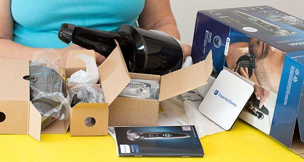 Philips S9711/31 Elektrischer Nass-und Trockenrasierer im Test - Komfortsystem für ein angenehmes Hautgefühl mit drei Geschwindigkeitsstufen