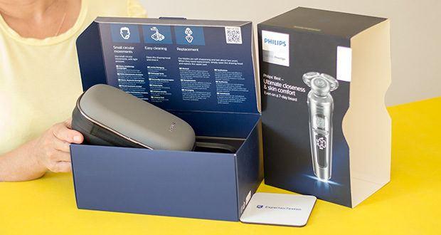Philips SP9820/18 Elektrischer Nass- und Trockenrasierer im Test - Zubehör im Lieferumfang: Premium Reiseetui