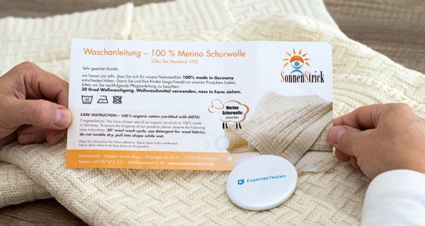 Sonnenstrick Babydecke im Test - aus 100 % mikro-feiner Merino-Schurwolle