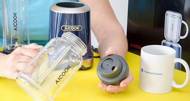AICOOK Smoothie Maker im Test - Mason Flasche: für zuhause, Garten, Terrasse oder Balkon
