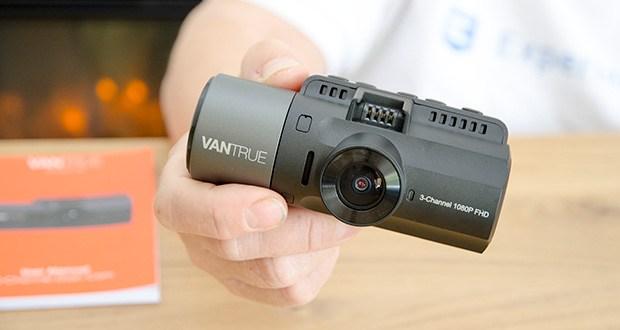 VANTRUE N4 3 Lens Dashcam im Test - die Frontkamera unterstützt bis zu 2592x 1520P und die Doppelaufnahme unterstützt bis zu 1440 + 1080P