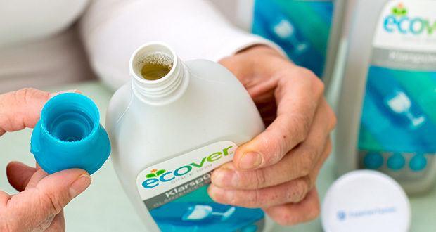 Ecover Ökologischer Klarspüler für Geschirrspülmaschinen im Test - ist auf pflanzlicher und mineralischer Basis und damit vegan