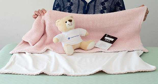 Meyco gestrickte Babydecke Winter im Test - zum einwickeln/ pucken/ Zudecken oder als Unterlage