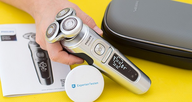 Philips SP9820/18 Elektrischer Nass- und Trockenrasierer im Test - die NanoTech-Klingen schneiden Haare mit maximaler Präzision und erreichen so die gründlichste Rasur direkt an der Hautoberfläche
