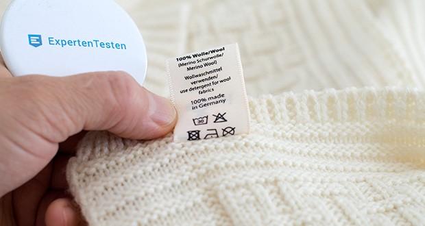 Sonnenstrick Babydecke im Test - Maschinenwäsche bei 30 Grad Wollwaschmittel und Wollwaschgang