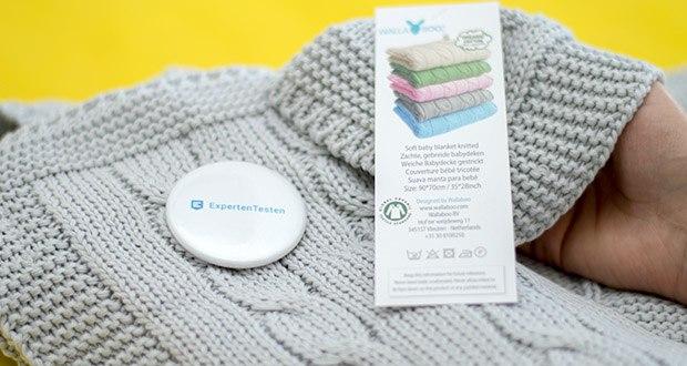 Wallaboo Babydecke Noa im Test - für das gute Gefühl sorgt die Bio-Baumwolle aus kontrolliert biologischem Anbau