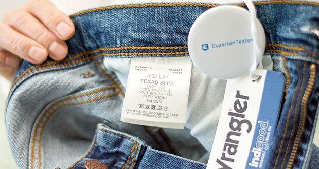 Wrangler Herren Texas Slim Jeans im Test - Pflegehinweis: Maschinenwäsche