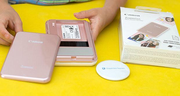 Canon Zoemini Mini Fotodrucker im Test - das separat erhältliche ZINK Fotopapierpaket mit 20 Blatt vervollständigt Ihren Zoemini