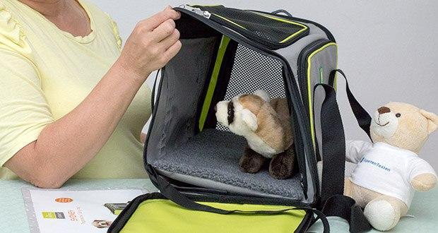 HUNTER SYDNEY Tragetasche für Hunde und Katzen im Test - die abwaschbare Transporttasche ist für Haustiere bis maximal 6,5 kg geeignet