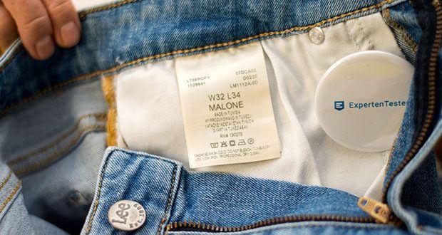 Lee Herren Malone' Jeans im Test - Pflegehinweis: Maschinenwäsche