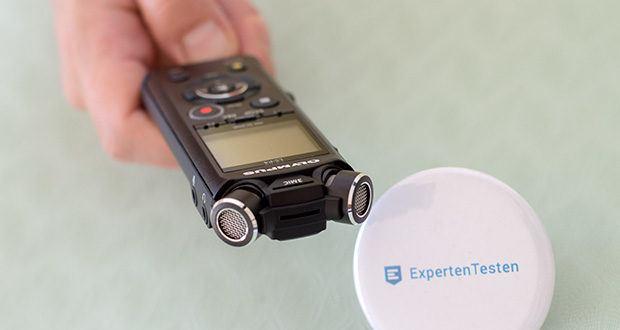 Olympus LS-P4 Hi-Res Audiorekorder im Test - Zoom-Mikrofonmodus für Aufnahmen aus der Entfernung und 2 Mikrofone Rauschunterdrückungsfunktion, effektiv bei Aufnahmen in geräuschvoller Umgebung