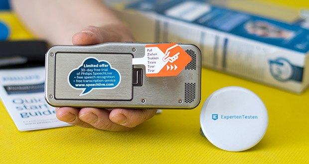 Philips DPM6000 Digitales Diktiergerät im Test - das Edelstahlgehäuse bietet robusten, langlebigen Schutz für das Gerät