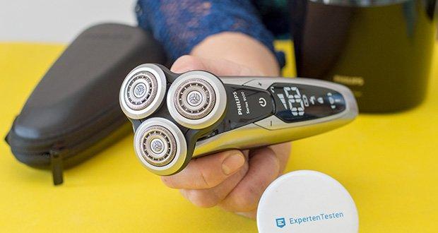 Philips S9711/31 Elektrischer Nass-und Trockenrasierer im Test - Konturanpassung: 8 Richtungen