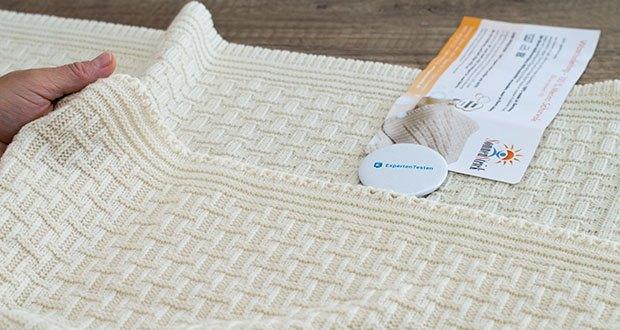 Sonnenstrick Babydecke im Test - vielseitig einsetzbar: als Erstlings-Decke, Schmuse-Decke, Schlaf-Decke...