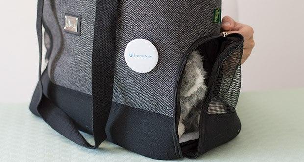 HUNTER BARCELONA Tragetasche für Hunde und Katzen im Test - der Einstieg des Tieres ist sowohl von oben als auch seitlich möglich