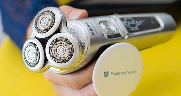 Philips SP9820/18 Elektrischer Nass- und Trockenrasierer im Test - die NanoTech-Klingen sind verstärkt mit Nanopartikeln und bestehen aus extra widerstandsfähigen und selbstschärfende Messern