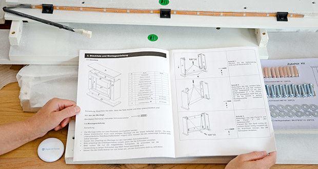 RICHEN Elektrischer Standkamin Baldur EF119B-MT119A im Test - ausführliche Montageanleitung für den einfachen Aufbau