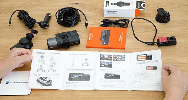 VANTRUE N4 3 Lens Dashcam im Test - im Parkmodus wollen die 3 Kameras autom. gleichzeitig aufzeichnen, sobald die Front- oder Rückkamera Bewegungen erkennt