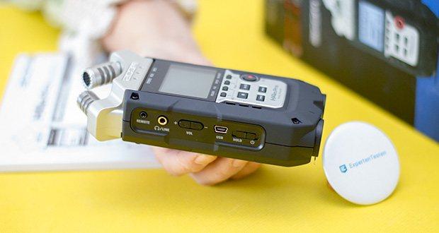 Zoom H4nPro Digital Multitrack Recorder im Test - weiterentwickeltes X/Y-Stereomikrofon, das bis zu 140 dB verarbeiten kann