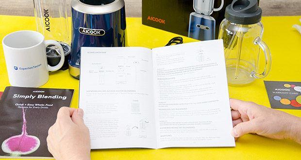 AICOOK Smoothie Maker im Test - auf Langlebigkeit ausgelegt: CE zertifiziert