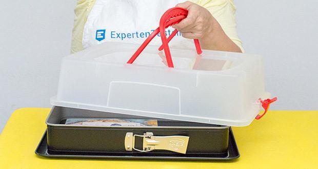 Dr. Oetker Rechteck-Springform mit Haube im Test - hitzebeständig bis 230°C