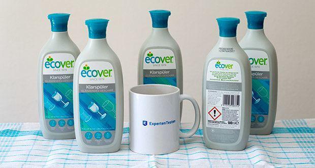 Ecover Ökologischer Klarspüler für Geschirrspülmaschinen im Test - glänzendes Geschirr ohne Wasserflecken & Streifenbildung
