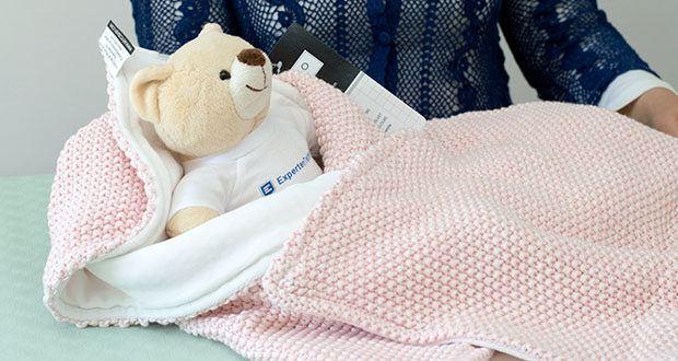 Meyco gestrickte Babydecke Winter im Test - atmungsaktiv ohne einen Hitzestau zu produzieren