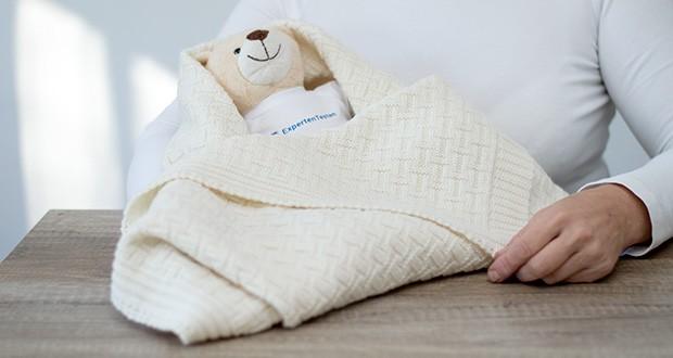 Sonnenstrick Babydecke im Test - Wolle gleicht sowohl Hitze als auch Kälte aus