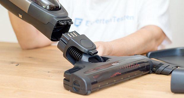 AEG QX9-1-50IB 2in1 Akku-Staubsauger im Test - hat ein ergonomisches, progressives Design mit hochwertigen Materialien und einen angenehmen Handgriff in Lederoptik