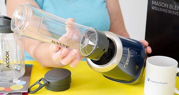 AICOOK Smoothie Maker im Test - verfügt über eine fortschrittliche Struktur, die eine perfekte Luftzirkulation um den Motor gewährleistet und den Mixer jahrelang langlebig hält