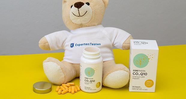 Cosphera Coenzym Q10 Kapseln im Test - hergestellt in Deutschland