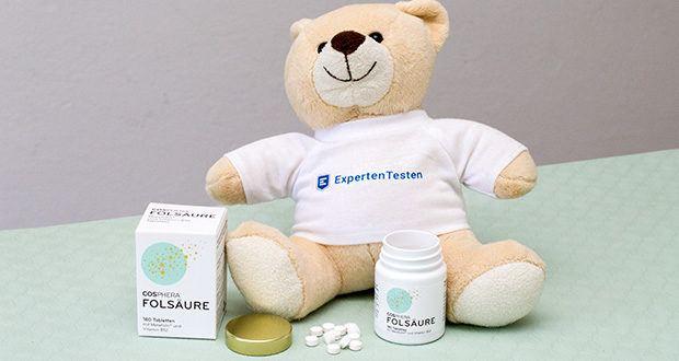Cosphera Folsäure Tabletten im Test - enthält eine Kombination aus bioaktiver Folsäure und Vitamin B12