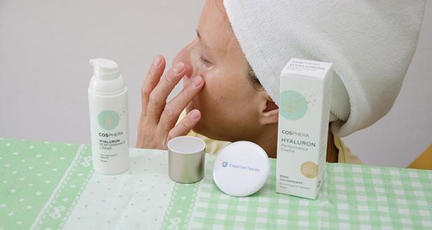Cosphera Hyaluron Performance Creme im Test - die Creme spendet viel Feuchtigkeit und hinterlässt ein frisches Gefühl, ohne die Poren zu verkleben