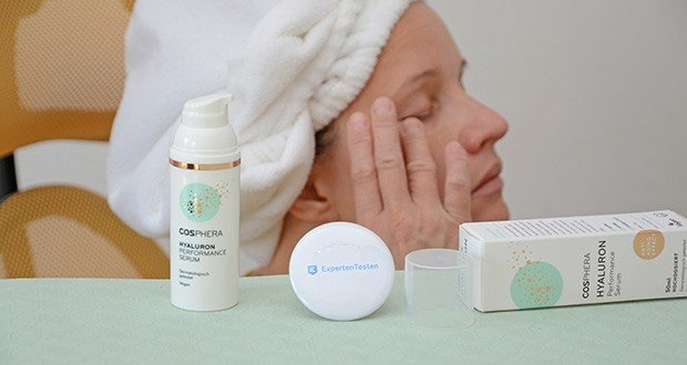 Cosphera Hyaluron Performance Serum im Test - eine optimale Wirkung wird erzielt, wenn Sie dieses Pflege-Serum sowohl am Tag als auch in der Nacht verwenden
