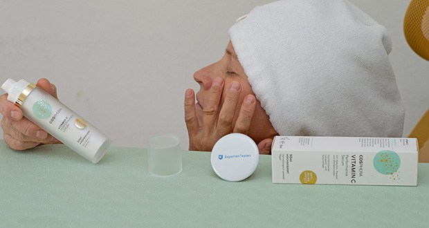 Cosphera Vitamin C Performance Serum im Test - enthält eine sehr hoch dosierte Kombination aus Vitamin C und nieder- und hochmolekularer Hyaluronsaeure